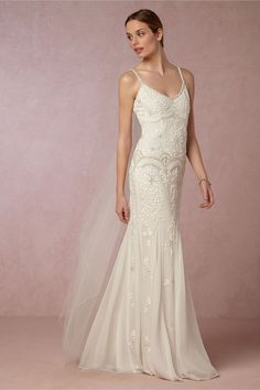 embellished sheath wedding dress | Naomi Gown from BHLDN