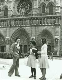 American tourists at Notre Dam in the 1970s, American, Vintage, Novels, Primitive