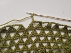 Triangle Crocheted Infinity Scarf - Friendly Nettle