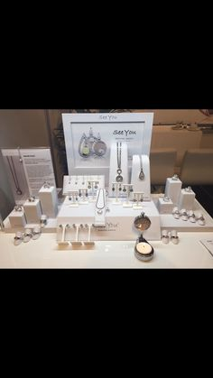 See You Memorial Jewelry display set up at the Funeral Trade Show in The Netherlands.