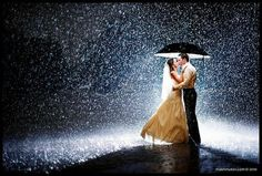 Rainy Night Wedding. Beautiful, but still hope for clear skies.