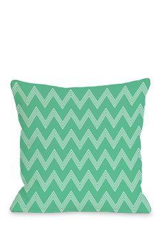 One Bella Casa Emily Tier Chevron Throw Pillow Color: Turquoise Chevron Throw Pillows, Green Pillows, Modern Throw Pillows, Throw Pillow Sets, Outdoor Throw Pillows, Decorative Pillows, Pillow Talk, Cotton Velvet, Perfect Pillow
