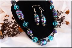 new twirly beads with big turquoise crystals
