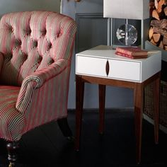 Lux Bedside or Side Table – Allissias Attic & Vintage French Style
