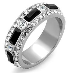 Stainless Steel Black Crystal Eternity Ring, Size 5,6,7,8,9,10 (5) Marshal Imports http://www.amazon.com/dp/B00NAHE97A/ref=cm_sw_r_pi_dp_Gle5ub09QZKXZ