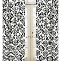 @Overstock - Create a stylish look with these Sweet JoJo Designs Window Panels. Pair these beatiful panels with coordinating Sweet JoJo Designs to complete the look and feel of your room.http://www.overstock.com/Home-Garden/Damask-Print-Isabella-84-inch-Curtain-Panel-Pair/7748420/product.html?CID=214117 $56.99