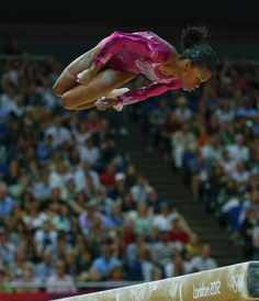 Gabrielle Douglas of the U.S. performs on the balance beam during the women's individual all-around gymnastics final in the North Greenwich Arena at the London 2012 Olympic Games August 2, 2012.