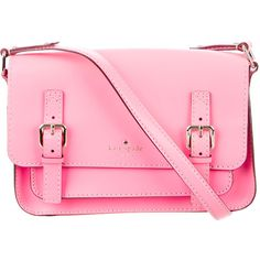 Pre-owned Kate Spade New York Essex Scout Messenger Bag (€115) ❤ liked on Polyvore featuring bags, messenger bags, pink, leather courier bag, flap messenger bag, pink bag, leather messenger bag and kate spade bags