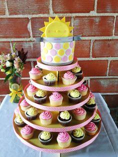 You are my sunshine cupcake tower