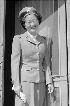 US Naval Cadet Nurse Kay Fukuka / Photograph taken at Manzanar by Ansel Adams, 1943