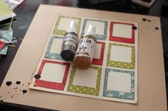 scrapping with diy polaroid frames (by shimelle)