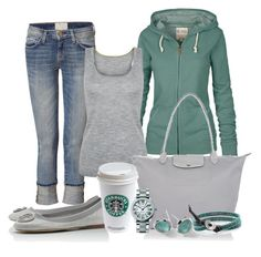 """""""Longchamp"""" by michellesolinas ❤ liked on Polyvore"""