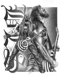 Black Label Society BLS Metal Book of Shadows Zakk Wylde Rare Poster Print