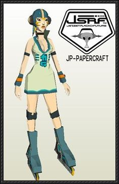 Jet Set Radio Future - Gum Free Papercraft Download - http://www.papercraftsquare.com/jet-set-radio-future-gum-free-papercraft-download.html