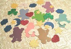 Ursinhos carinhosos amo confetti cortes de morrer festa de aniversário favor do chuveiro de bebê(China (Mainland))