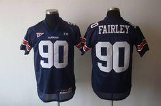 Tigers #90 Fairley Blue Embroidered NCAA Jersey prices USD $21.50 #cheapjerseys #sportsjerseys #popular jerseys #NFL #MLB #NBA