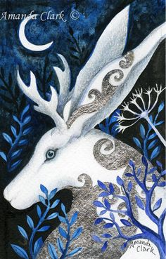 ART SALE!! An original painting titled Shape Shifter. Miniature art. silver leaf , Water colour, Fairy tale illustrations. by earthangelsarts on Etsy