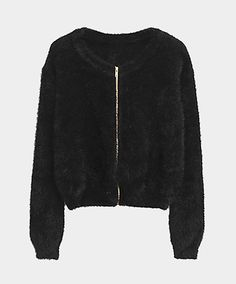 Mohair cropped cardigan // Choies
