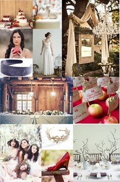 snow white inspired wedding