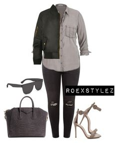 """""""+"""" by style-ish ❤ liked on Polyvore featuring maurices, Gianvito Rossi, WearAll, Givenchy, RetroSuperFuture, women's clothing, women's fashion, women, female and woman"""