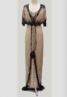 Beaded Evening Dress, ca. 1910via Auction Eve