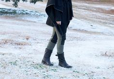 snow day wearing Free People pants | allyson in wonderland