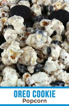 Our Oreo Cookie Popcorn is so yummy and so easy to make. Sweet and salty popcorn covered in marshmallow and mixed with yummy Oreo Cookies. Oreo Popcorn, Marshmallow Popcorn, Sweet Popcorn, Popcorn Snacks, Candy Popcorn, Flavored Popcorn, Gourmet Popcorn, Popcorn Recipes, Popcorn Bar