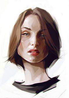 Creative Portrait Illustrations by Viktor Miller-Gausa #digitalart #portrait #drawing #illustrationart