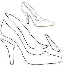 shoe template for high heel shoe greeting card (i., from making-greeting-free shoe template for high heel shoe greeting card (i., from making-greeting- Shoe Pattern, Pattern Paper, 3d Pattern, Pach Aplique, Shoe Template, Accessoires Barbie, Paper Shoes, High Heels, Shoes Heels