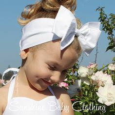 Rockabilly headband bow for little pin up baby dolls! Sizes NB to girls 10. Handmade by Sunshine Baby Clothing in USA.