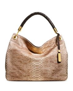 Michael Kors Large Skorpios Snake-Embossed Shoulder Tote. pretty good!!