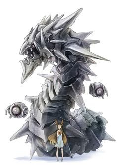 Steel type Pokemon were relese in the generation of hand held Pokemon video games. They are resistent to many types and most of there Pokemon have large defensive stats. Steelix Steel/r… Pokemon Fan Art, Real Pokemon, Type Pokemon, Pokemon Fusion, Charizard, Creature Design, Digimon, Game Art, Cool Art