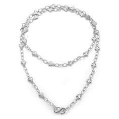 SLANE Bee Free Sterling Silver Oval Link and Bee Necklace