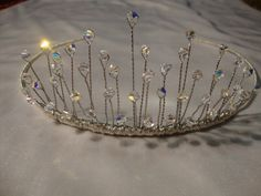 Handmade wedding tiara with swarovski crystals