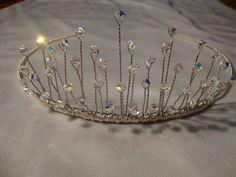 Handmade wedding tiara with swarovski crystals