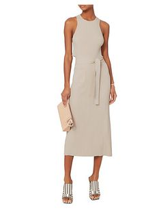 Helmut Lang Crème Cutout Wrap Dress