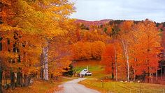 Vermont in the Fall. I want to visit Vermont someday. It has to be one of the most beautiful states in the USA.