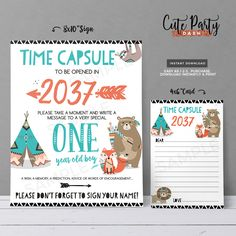 Wild One First Birthday Chalkboard Sign - Birthday Printable Milestone Sign - Tribal animals wild one Woodland birthday party chalkboard sign First Birthday Favors, First Birthday Chalkboard, Wild One Birthday Party, First Birthday Parties, First Birthdays, Tribal Animals, Animal Birthday, Woodland Party, Time Capsule