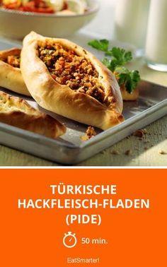 Türkische Hackfleisch-Fladen (Pide) - smarter - Zeit: 50 Min. | eatsmarter.de