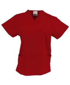A great price for a great top. Color featured here: Red. Fifteen other colors available. #ScrubTop