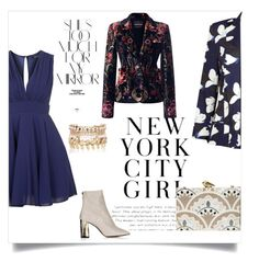"""Navy blue"" by designismyprime ❤ liked on Polyvore featuring TFNC, Roberto Cavalli, Kelly Love, Rika, KOTUR, River Island, women's clothing, women, female and woman"