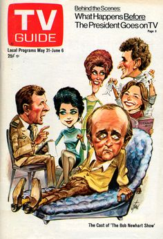 "Jumbled Planet | TV Guide cover - cast of ""The Bob Newhart Show.""..."