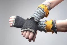 Wool Arm Warmers   Upcycled Arm Warmers  Alpaca by Liquidshiva