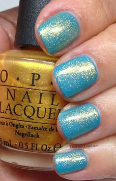 OPI Can't Find My Czechbook with a coat of Oy! Another Polish Joke... Great combo!  #icantfindmyczechbook #OPIEuroCentrale  #cantfindmyczechbook