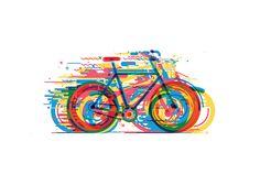 """CA Korea  일러스트레이터이자 디자이너 겸 홍보전문가인 칠레의 크리에이터 다니엘 곤잘레즈 자전거를 탈 때 얼굴을 스치는 바람'에서 영감 자전거의 모양을 최대한 단순하게 그리고 싶었습니다. """"여러 다발의 색이 최고 속도로 달리는 듯한 느낌을 전달해주는 것 같아요."""""""