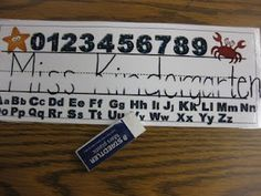 Erase permanent marker on laminated materials using an eraser...I will try this out tomorrow!