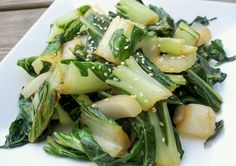I just recently introduced Paul to Bok Choy.  He had never even heard of it.  I was really happy with his reaction.  I thought this was delicious.  This is a great side dish to a marinated flank steak and pairs well with a nice Riesling.