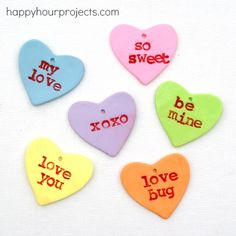 Polymer Clay Valentine Gift Tags ~ so cute!!