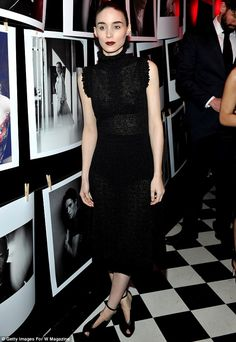 A stylish performance: Rooney Mara, 30, was also in attendance at the bash, and oozed unde...