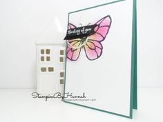 How to make a fun Butterfly Thinking of you card using Beautiful Day from Stampin' Up!